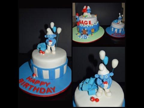 Smurf smash cake 🎂 pastel de los pitufos