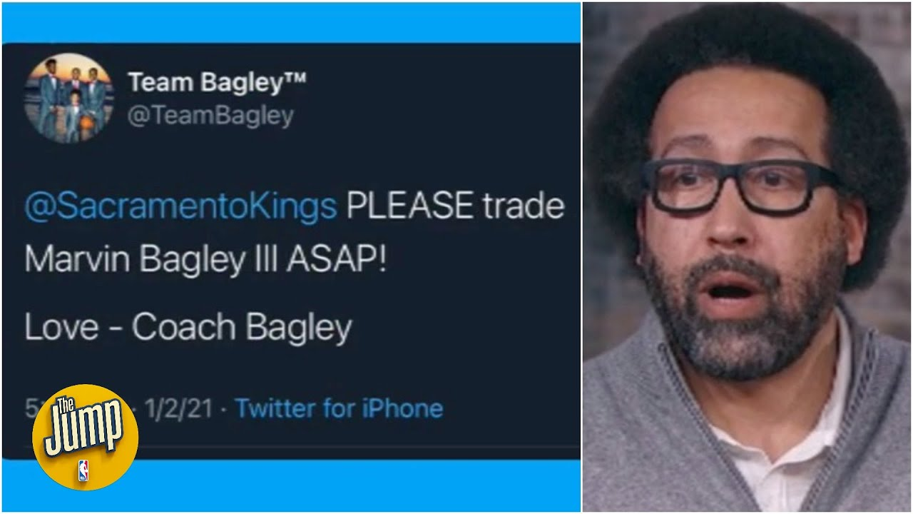 Reacting to Marvin Bagley III's dad tweeting the Kings to trade his son | The Jump