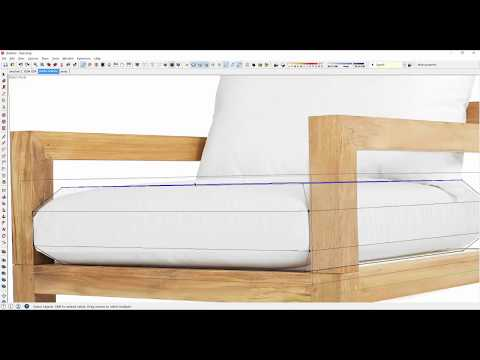 Quickly create a designer chair in SketchUp