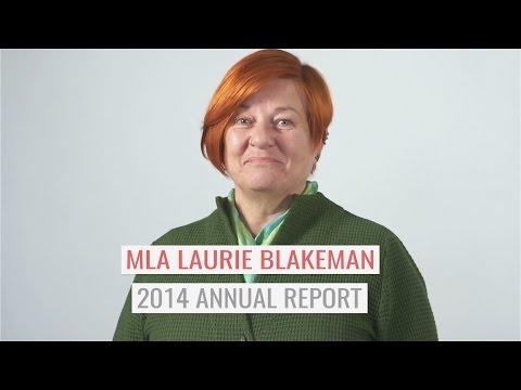 MLA Laurie Blakeman 2014 Annual Report - Legal Aid