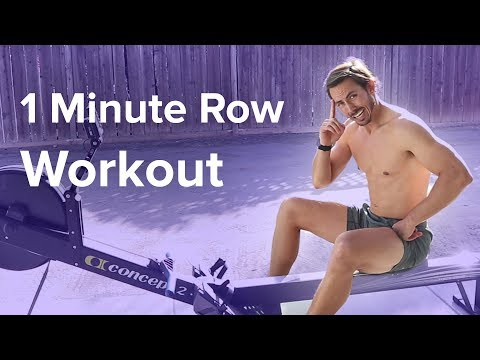 Rowing Machine: How Fast Can you Row? One Minute Workout