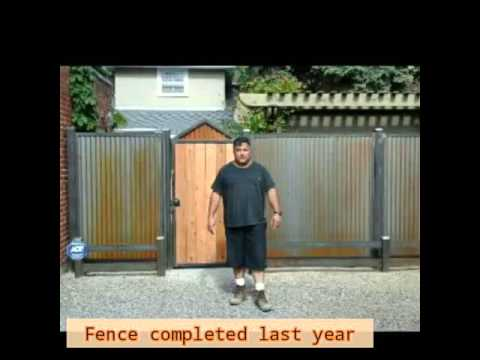 Corrugated steel fence that rusts by KenG Fence