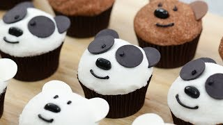 WE BARE BEARS CUPCAKES - NERDY NUMMIES