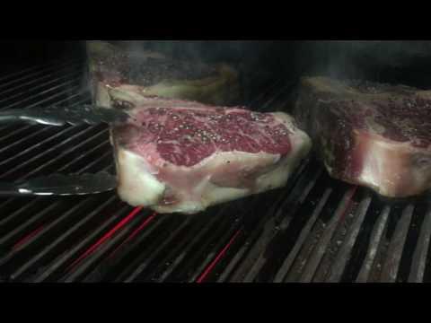 Grilling a huge Dry Aged Porterhouse Steak