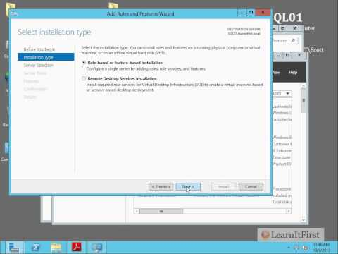 Preparing Your Environment to Install SQL Server 2012 - Exercise
