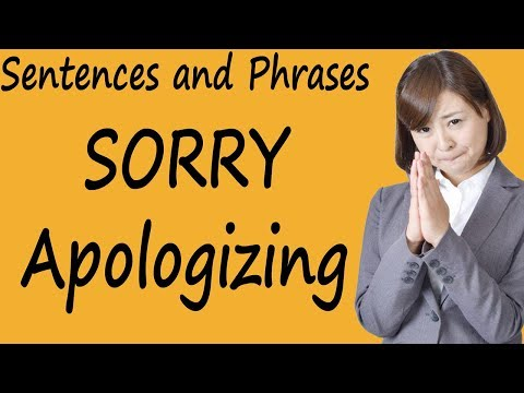 Sentences and Phrases for SORRY and Apologizing