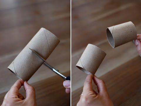 How to Make a PHONE HOLDER Easy from Toilet Paper Rolls - DIY Crafts