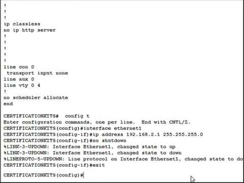 CCNA Certification:  How to Configure an IP Address on your Cisco Router