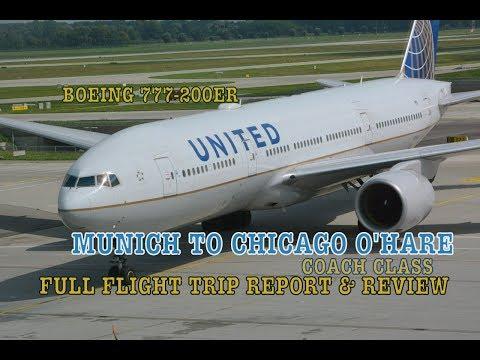 #50: UNITED BOEING 777-200ER   FULL FLIGHT TRIP REPORT   Munich to Chicago O'Hare
