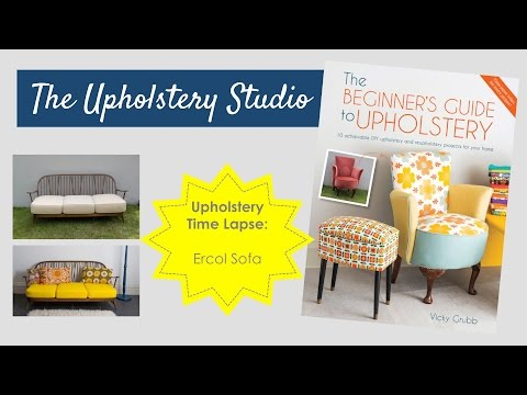 Upholstery Time Lapse - 1960's Ercol Sofa