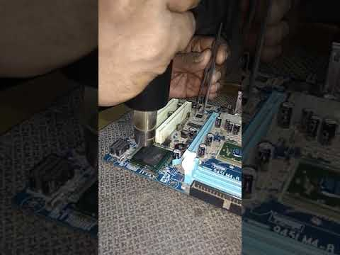 How to remove north south chipset from motherboard