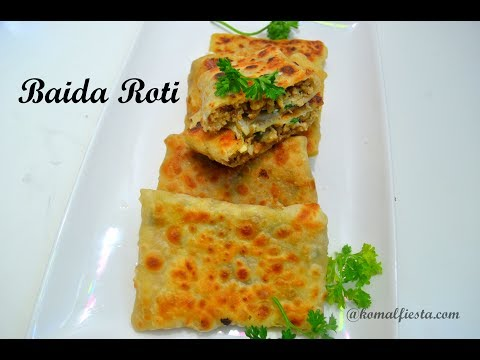 Chicken Baida Roti recipe |Mumbai Street food recipes| Egg Flat bread | Ramadan recipes