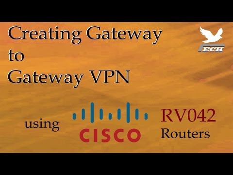 Gateway to Gateway VPN using Cisco RV042 Routers