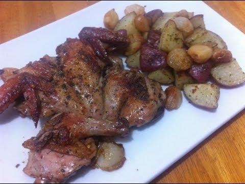 Cornish Hen w/ rosemary roasted potato's