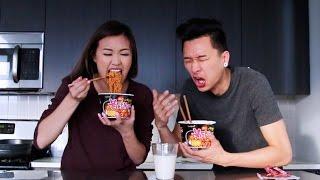 Spicy Ramen Challenge   WahlieTV