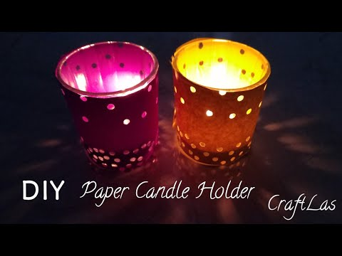 DIY Easy Paper Candle Holder Making Idea | How To | CraftLas