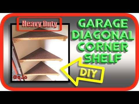 Diagonal Floating Corner Shelves | Super Heavy Duty | How to DIY