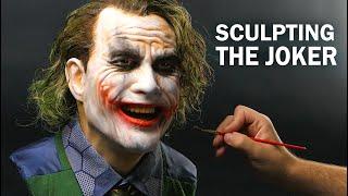 The Joker Sculpture Timelapse - The Dark Knight