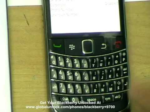 Blackberry Bold 9700 Unlock - Unlocking Sim Card by IMEI #