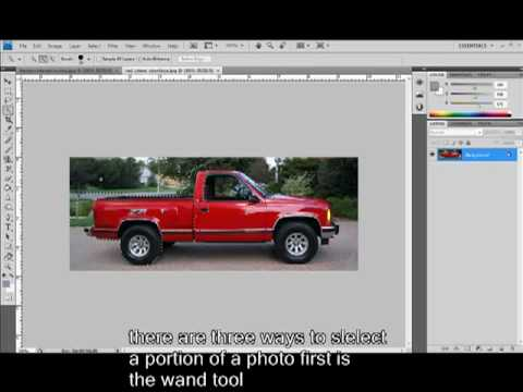 how to cut pictures out of one photo and add to another in cs4