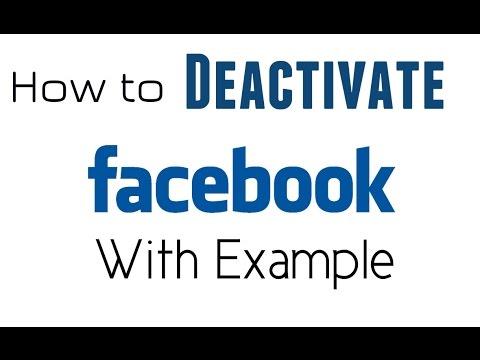 How To Deactivate Facebook Account  Delete Facebook Account