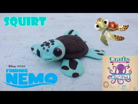 DIY: How to make polymer clay  SQUIRT  from Finding Nemo TUTORIAL