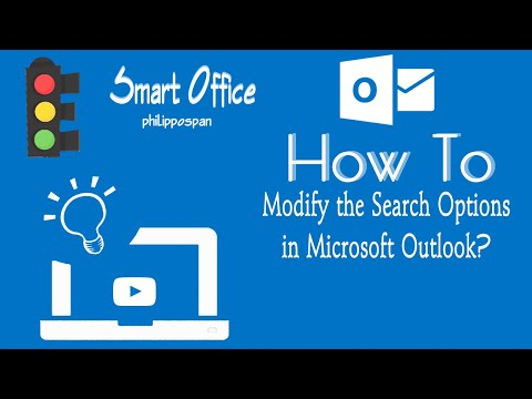 Modify the Search Options in Microsoft Outlook 365