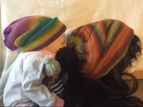 Beanie hats👒Easy tutorial knitted beanie PART#2&3 diy with round loom