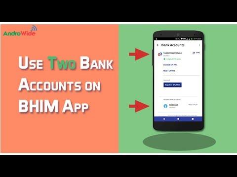 Use Multiple Accounts on BHIM App : Hindi