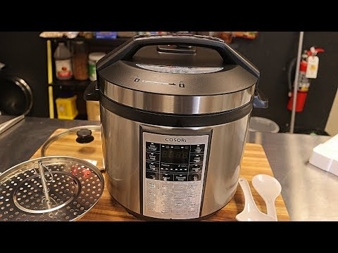 Cosori Electric Pressure Cooker Unboxing - multi cooker - cooking review - top pressure cooker
