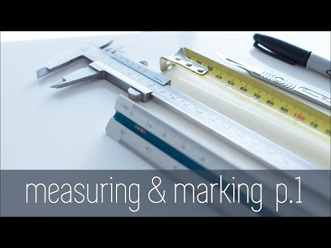 Architecture Modelmaking 101 - Measuring & Marking Part 1 - Planning