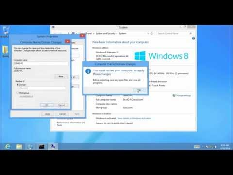 How to Join Client to a Active Directory Domain in Windows Server 2012