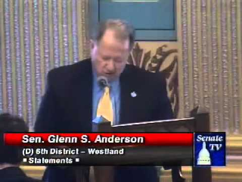 Senator Glenn S. Anderson Speaks to the Need to Extend Unemployment Benefits