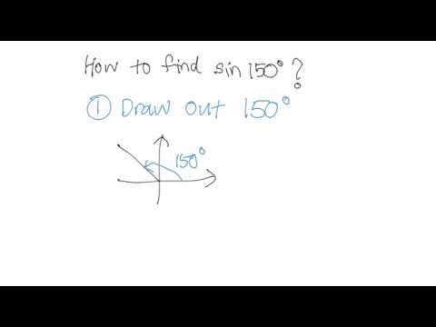 How to find sin 150 degrees?
