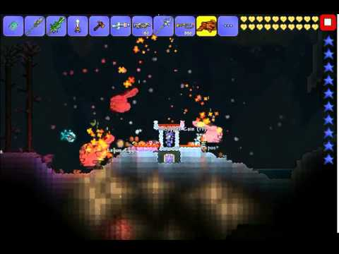 Terraria iOS easiest way to get the Frozen key mold: Leapus!