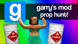 Gmod Prop Hunt Funny Moments 4 - BEST Strategy EVER... Well Almost (Garry's Mod Fun)
