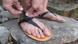 afce4c26224f How to Adjust   Tighten Your Huarache Style Running Sandals - Shamma  Running Sandals