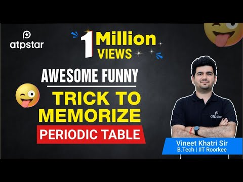 Awesome Funny Trick to memorize PERIODIC TABLE