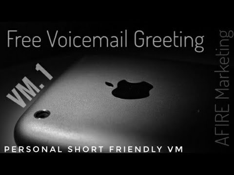 Free Use Voicemail Greeting 1:  Personal Short & Friendly