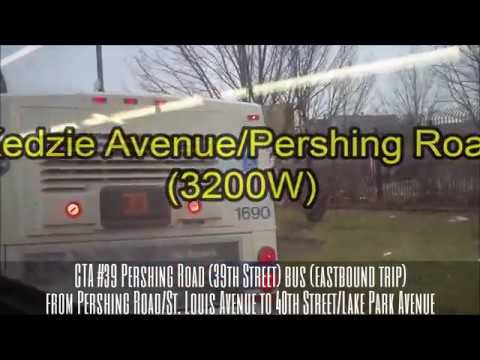 CTA #39 Pershing Road (39th St.) bus (EB trip) from Pershing/St. Louis to 40th/Lake Park (01-03-17)