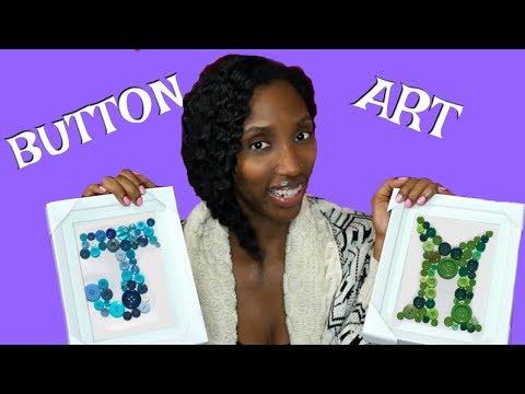 DIY Letter Button Art Frames