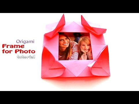 How to make a  Photo Frame with Hearts (ILDIKÓ H. VASS). Origami  Valentines Day 2017