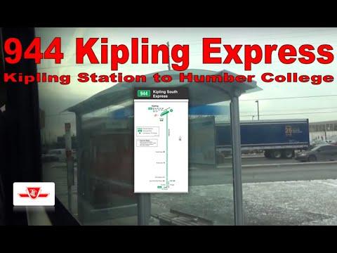 188 Kipling South Rocket - TTC 2007 Orion VII 8034 (Kipling Station to Humber College)