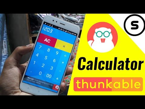 How to make calculator app in thunkable | Thunkable tutorial in hindi |