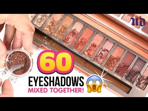 We Mixed 60 EYESHADOWS Together And Discovered A Crazy Secret from URBAN DECAY!!! DIY Makeup
