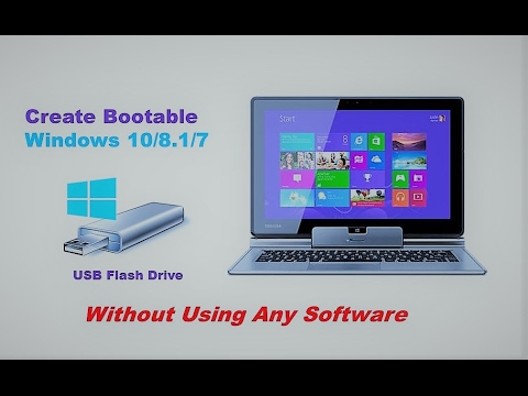 How To Create Bootable Windows 10/8.1/7 USB Drive Without Using Any Software (EASY WAY) ||2017||