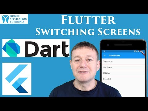 Flutter switching screens