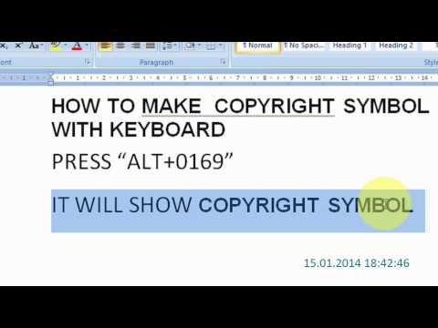 How to make the Copyright Symbol on your Keyboard