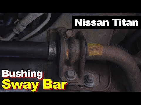 Nissan Titan Sway Bar Mount To Frame Bushing Replacement (Failed From Power Steering Fluid Leak)
