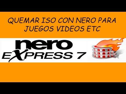 Como Quemar Una Imagen ISO En Un DVD O CD Con Nero Express 7 |2018|